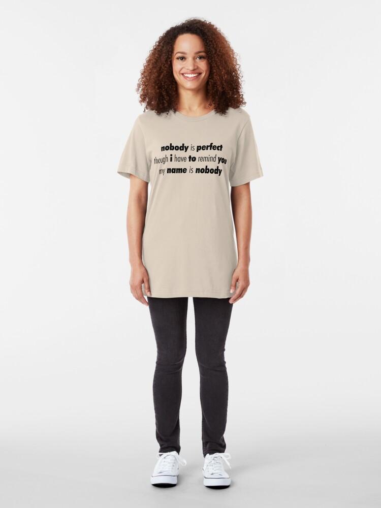 Alternate view of Nobody (Black) Slim Fit T-Shirt
