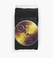 VOYAGER, Space, Golden Record, Spacecraft, Message to Aliens Duvet Cover