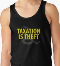 Being Libertarian , Taxation Is Theft Tank Top