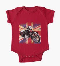 Classic BSA Motorcycle by Patjila One Piece - Short Sleeve