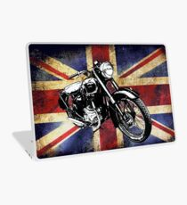 Classic BSA Motorcycle by Patjila Laptop Skin