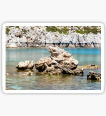 Turquoise waters of Mediterranean sea with cliffs and rocks Sticker