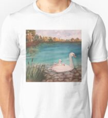Swan with babies T-Shirt