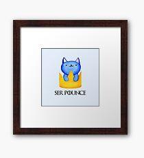 Ser Pounce-a-lot Framed Print