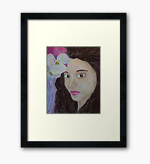 Girl with flower Framed Print