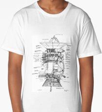 NASA - Cassini-Huygens Probe Diagram Long T-Shirt