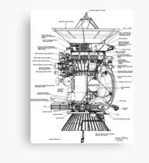 NASA - Cassini-Huygens Probe Diagram Canvas Print