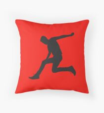 Jumping Man - RED Throw Pillow