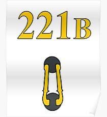 Sherlock 221B Door with knocker (Straight) Poster