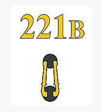 Sherlock 221B Door with knocker (Straight) Photographic Print