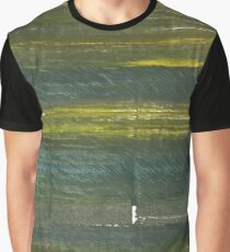Rifle green abstract watercolor background Graphic T-Shirt