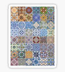 Set of 48 ceramic tiles patterns Sticker