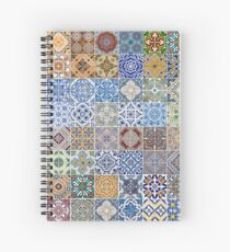 Set of 48 ceramic tiles patterns Spiral Notebook