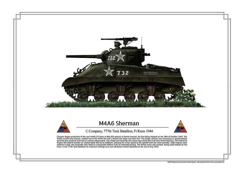 Sherman M4A6 Poster