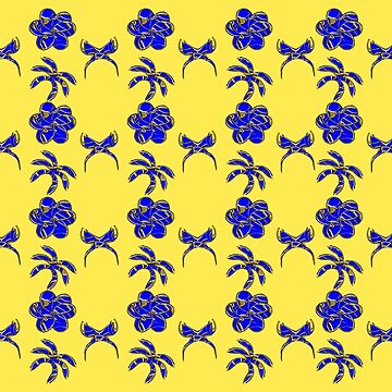Gold Trimmed Blue Designs by Gravityx9