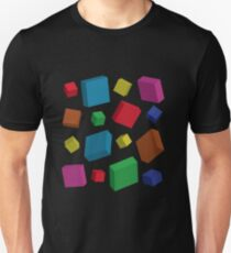 Cubes with random movements T-Shirt