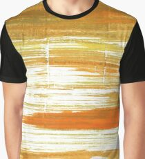 Maximum Yellow Red abstract watercolor background Graphic T-Shirt