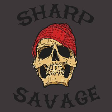 Sharp Savage Vintage Skull by MookHustle