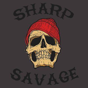 Sharp Savage Vintage Skull by MookHustle
