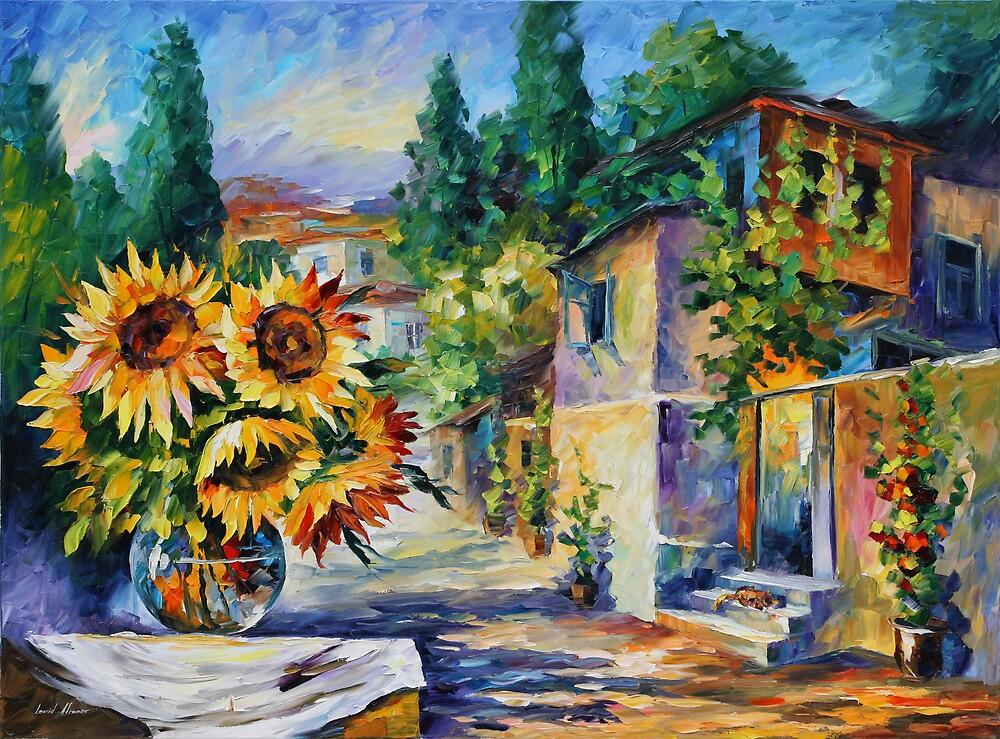 GREEK NOON limited edition giclee of L.AFREMOV painting by LeonidAfremov