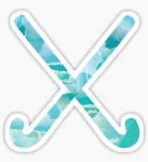 Field Hockey Watercolor 2 Sticker