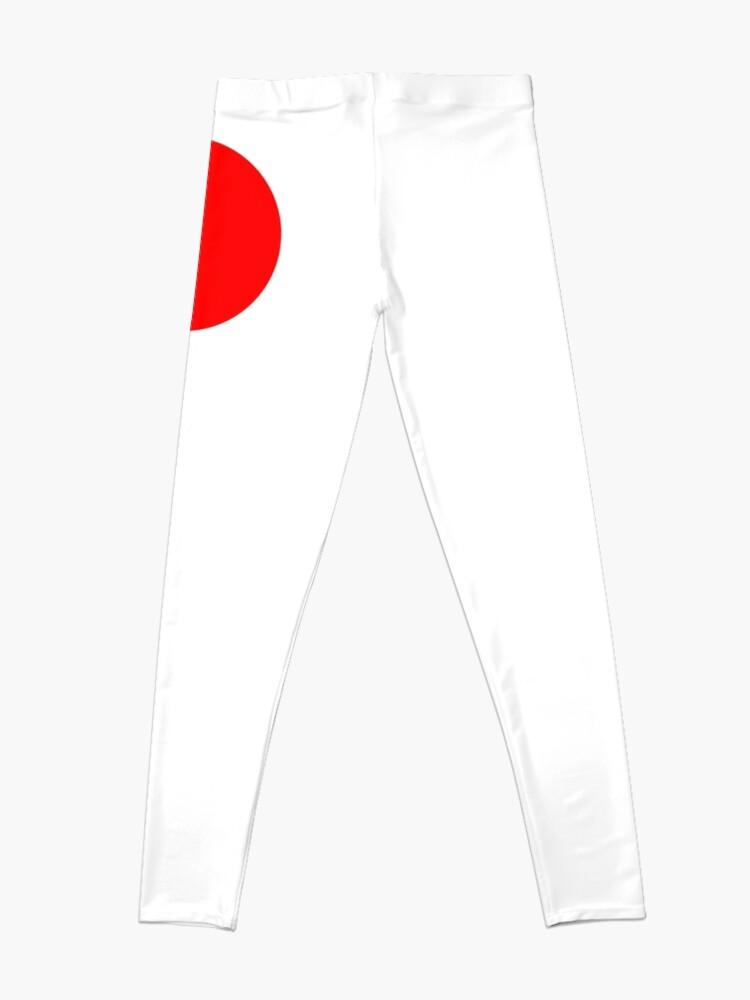 Alternate view of RED, DOT, CIRCLE, SPOT, RING, SPORT, TEAM Leggings