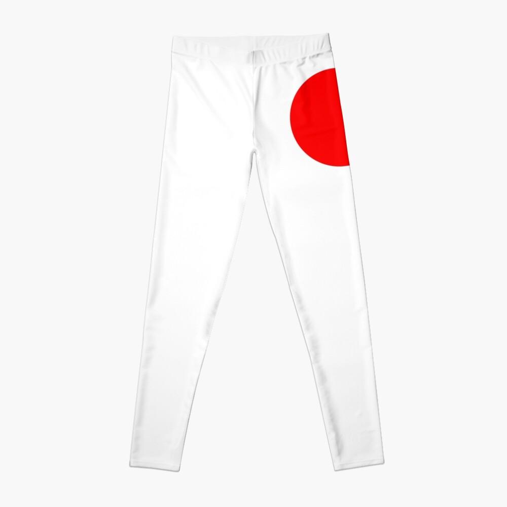 RED, DOT, CIRCLE, SPOT, RING, SPORT, TEAM Leggings
