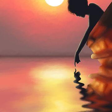 Sunset Lake by Angrahius