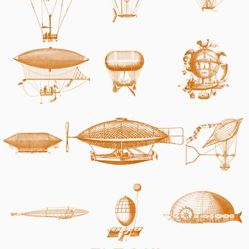 Blimp dirigible airship zeppelin fly green  by kbark