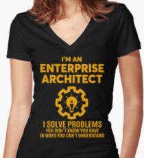 ENTERPRISE ARCHITECT - NICE DESIGN 2017 Women's Fitted V-Neck T-Shirt