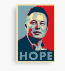 "Elon Musk ""Hope"" Poster Canvas Print"