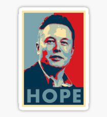 "Elon Musk ""Hope"" Poster Sticker"