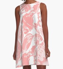 Pale Rose seashells pattern A-Line Dress