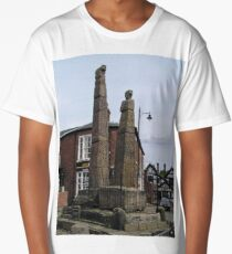 SAXON CROSSES SANDBACH, CHESHIRE, ENGLAND Long T-Shirt