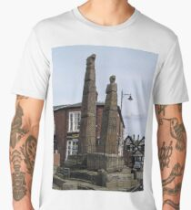 SAXON CROSSES SANDBACH, CHESHIRE, ENGLAND Men's Premium T-Shirt