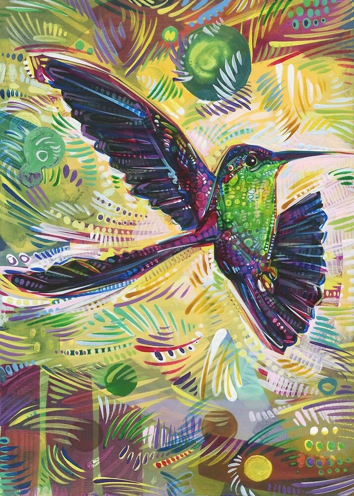 Violet-crowned Woodnymph Painting - 2017 by Gwenn Seemel