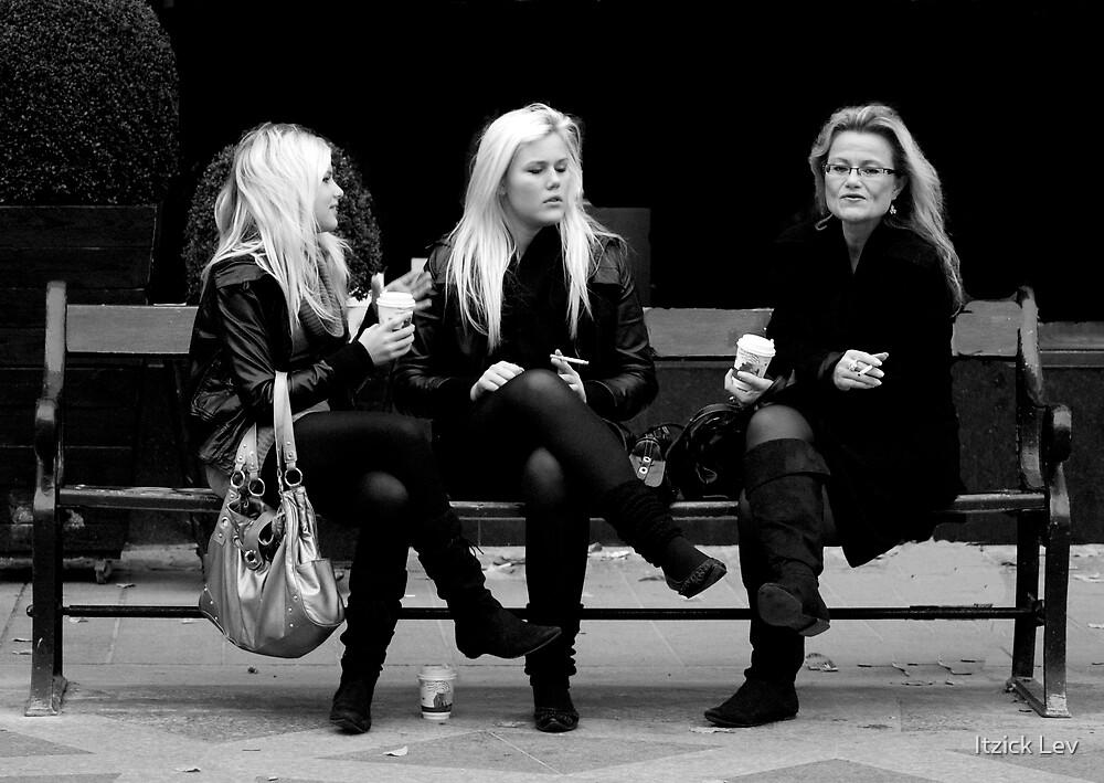Coffee break  by Itzick Lev