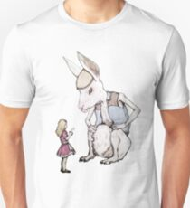 Jefferson Hare and the Child in Pink Unisex T-Shirt