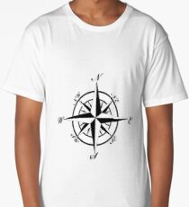 Retro Compass Long T-Shirt