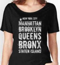 The Five Boroughs - New York City. Women's Relaxed Fit T-Shirt