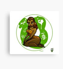 Pineapple Donut Girl Pinup Canvas Print