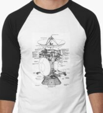 NASA - Cassini-Huygens Schematic Men's Baseball ¾ T-Shirt