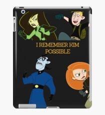 I Remember Kim Possible iPad Case/Skin