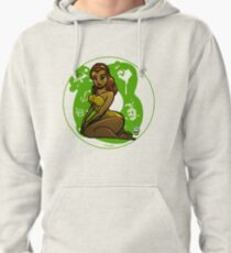 Pineapple Donut Girl Pinup Pullover Hoodie
