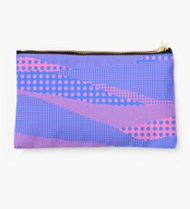 Memphis in Blue and Pink Studio Pouch