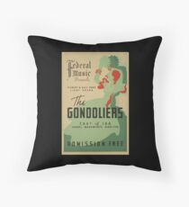 WPA United States Government Work Project Administration Poster 0703 Federal Music Gilbert and Sullivan Gondoliers Throw Pillow
