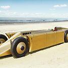 Golden Arrow on Daytona Beach by Charles Rist
