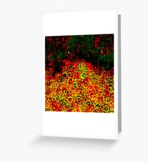 Bubbling darkness Greeting Card