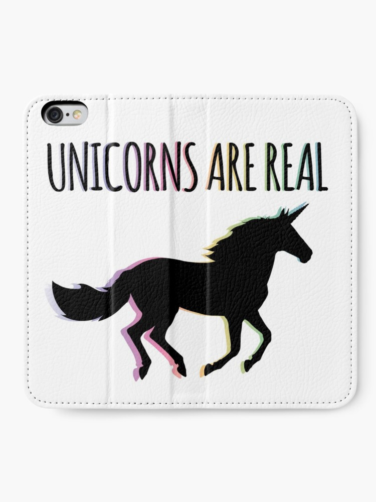 Alternate view of Unicorns are Real Rainbow Version iPhone Wallet