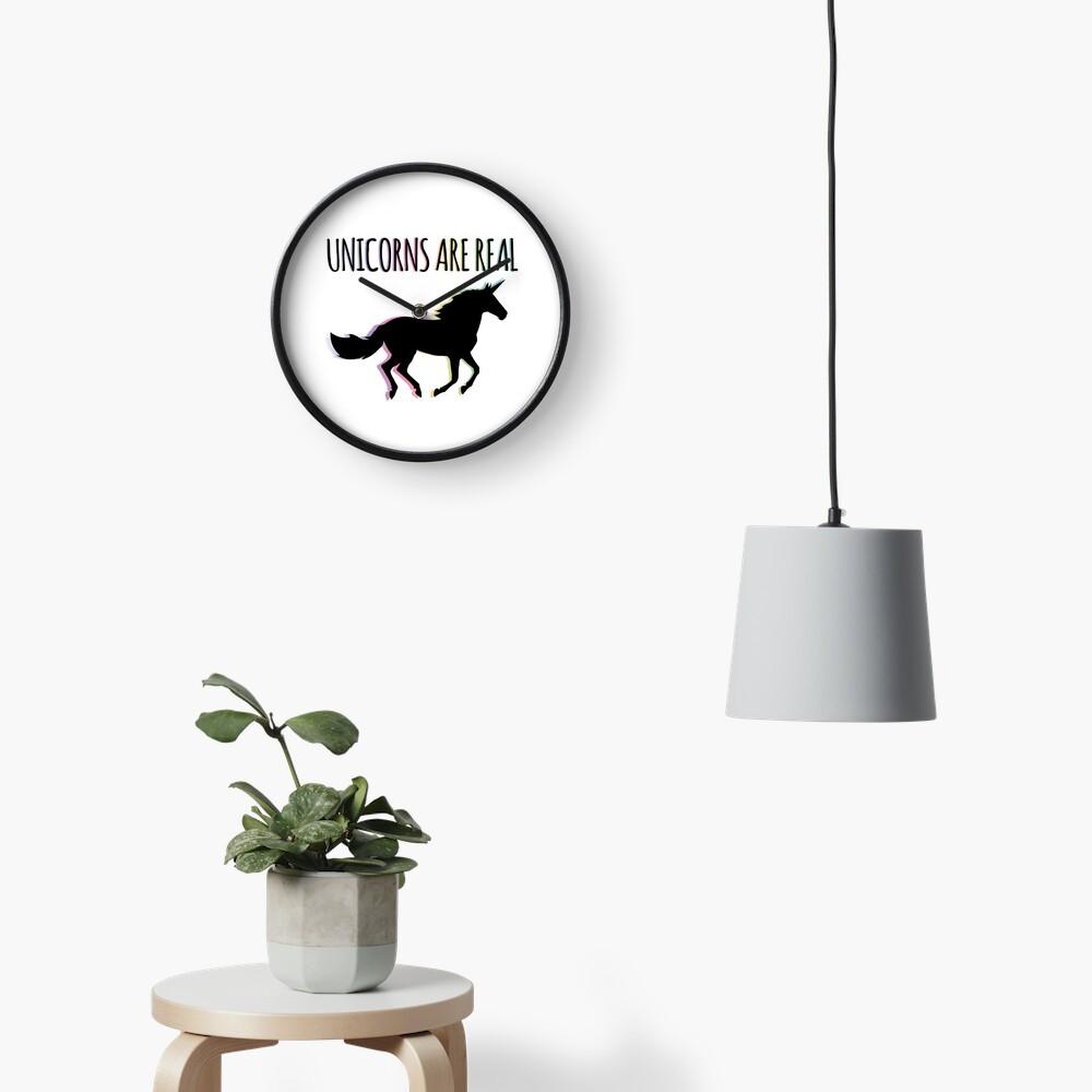 Unicorns are Real Rainbow Version Clock